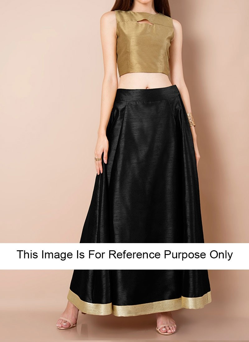 black raw silk crop tops with maxi skirts