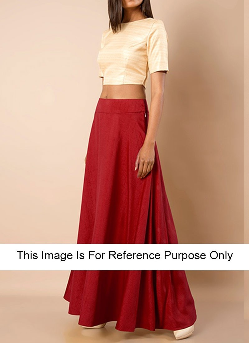 89c0dd6c085277 red raw silk crop tops with maxi skirts