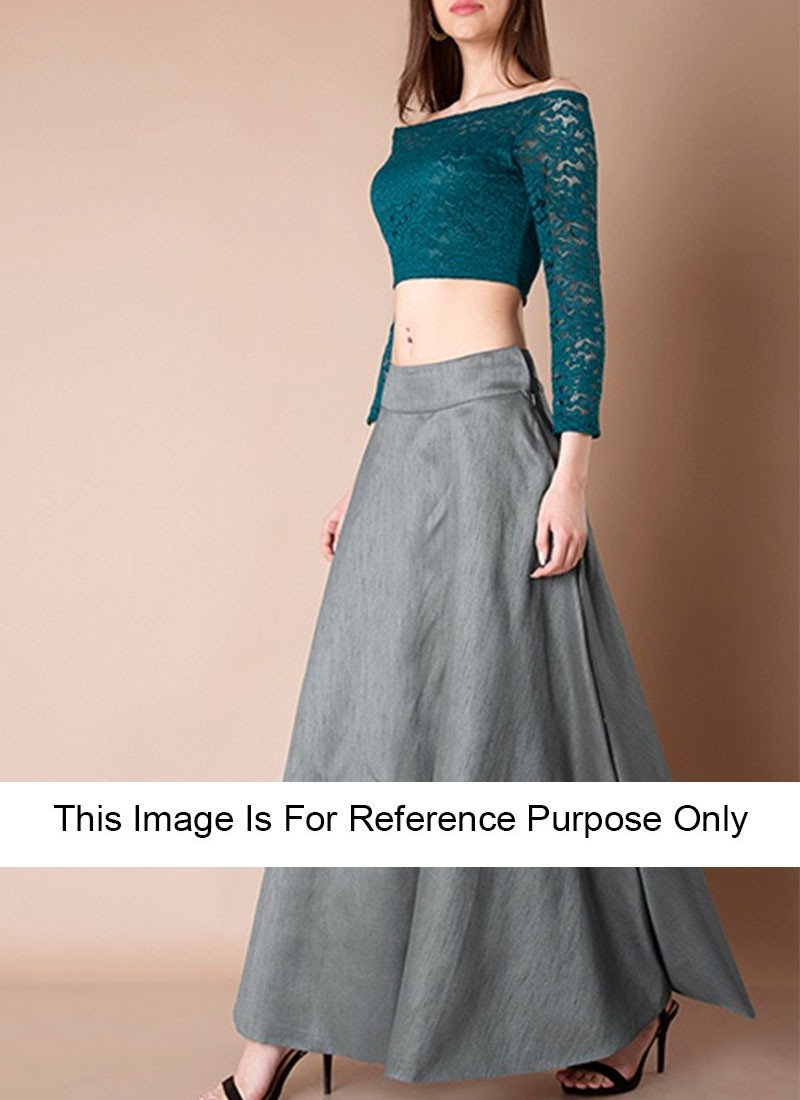 Grey Art Silk Crop Tops With Maxi Skirts Whatever you're shopping for, we've got it. grey art silk crop tops with maxi skirts