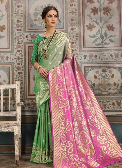 Green Kanchipuram Silk Regional Saree
