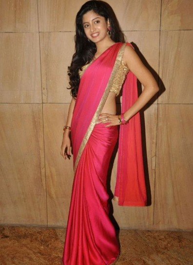 Pink Satin Silk Bollywood Saree