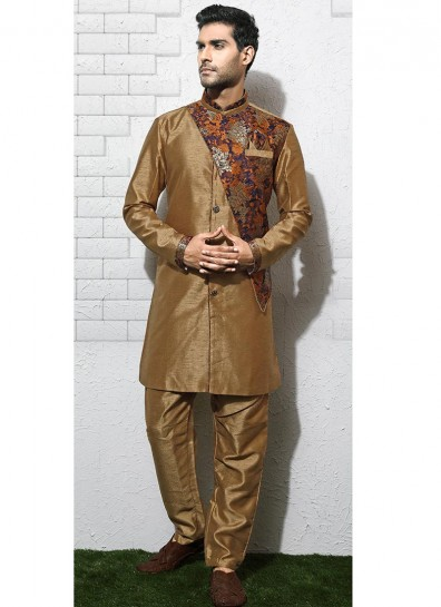 Golden Brocade Sherwani