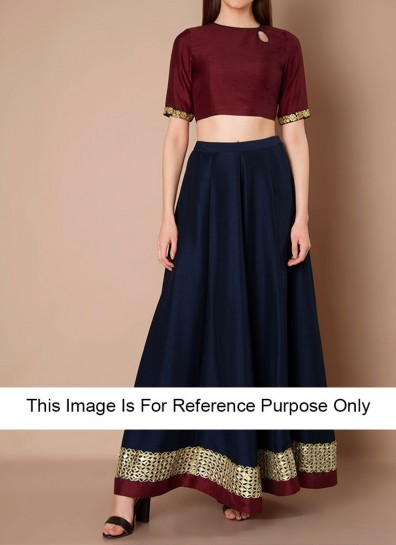 9833e8f1fecb83 blue raw silk crop tops with maxi skirts