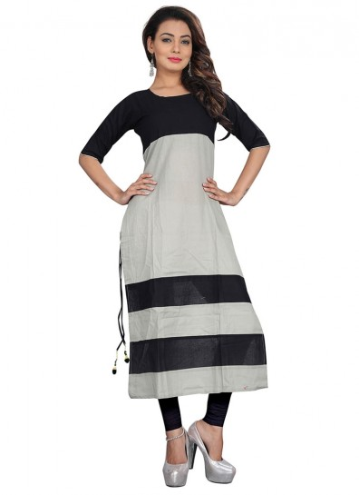 grey black cotton kurtis