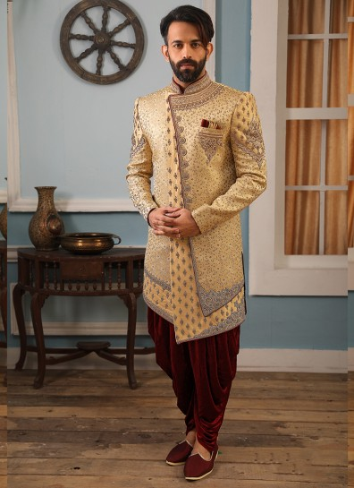 Gold Brocade Indowestern
