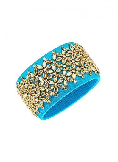 Blue Silk Thread Fancy Bangle