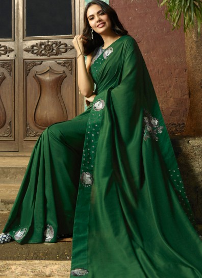 Green Silk Bollywood Saree