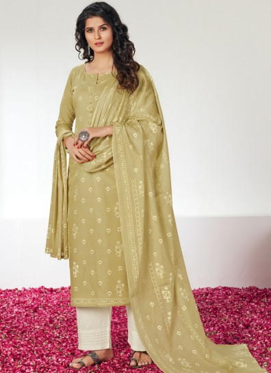 Green Cotton Palazzo Suit