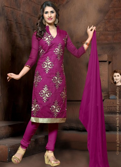 Violet Silk Straight Cut Suit