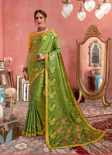Green Silk Regional Saree
