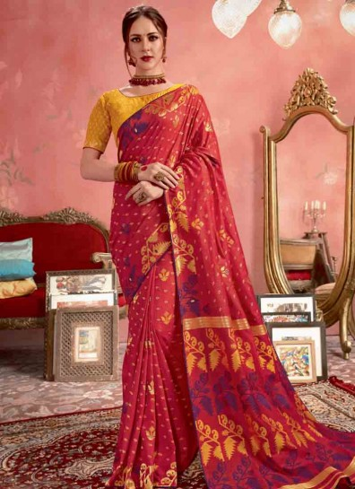 Red Silk Regional Saree