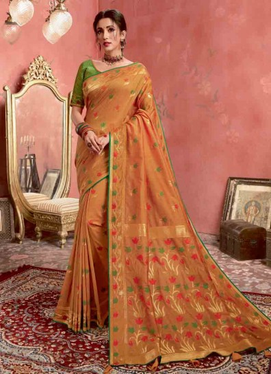Rust Silk Regional Saree