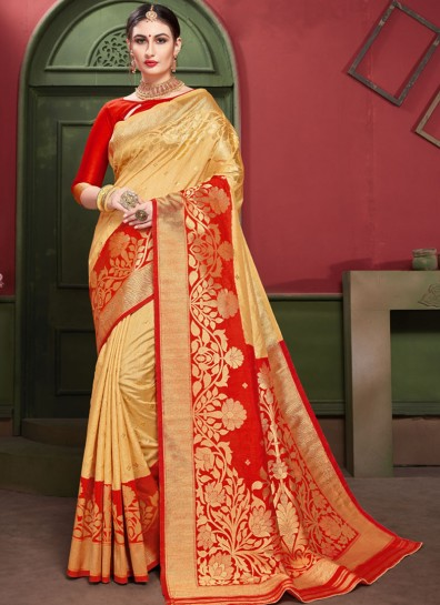 Gold Art Silk Regional Saree