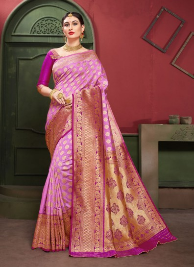 Pink Art Silk Regional Saree
