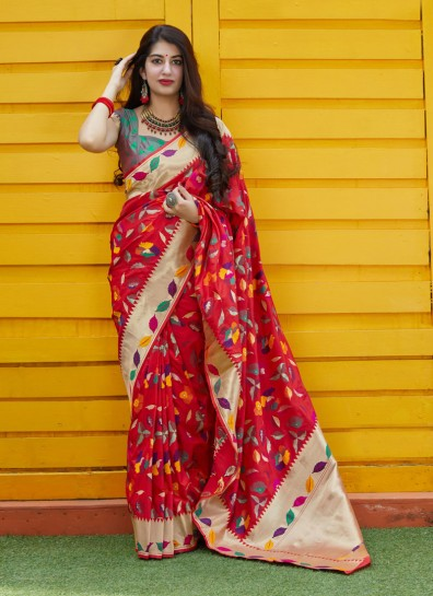 Red BanarasiDesigner Saree