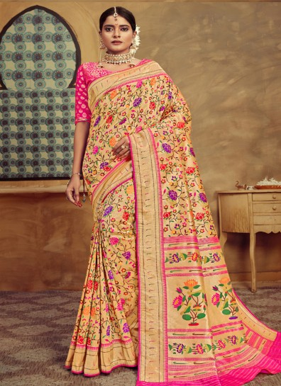 Gold Tissue Designer Saree