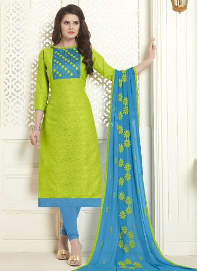 Green Cotton Salwar suit