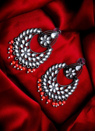 Red Alloy Earing