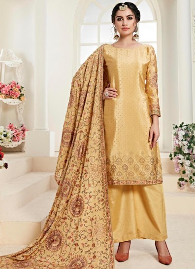 Gold Chinon Palazzo Suit