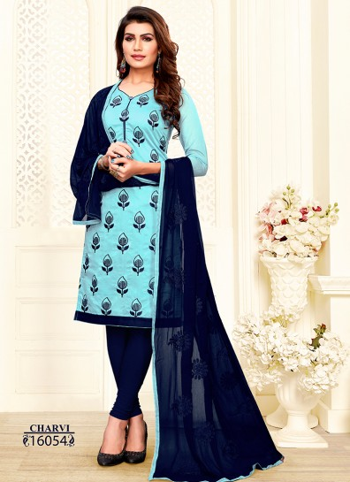 Sea Green Chanderi Straight Cut Suit
