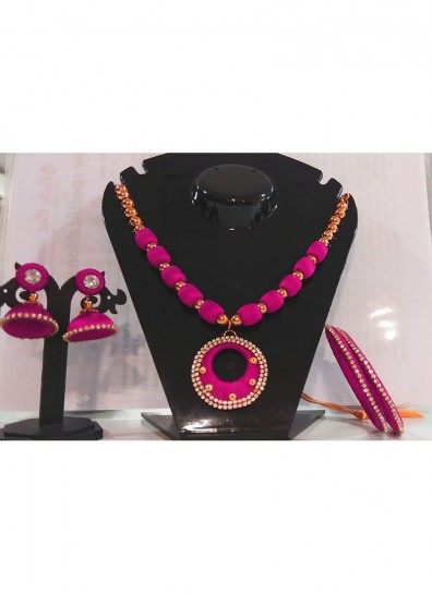 magenta silk thread thread jewelry