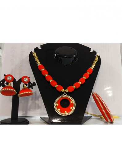 orange silk thread thread jewelry