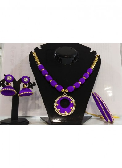purple silk thread thread jewelry