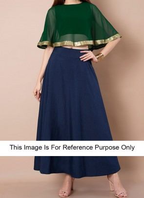 60f4a6416f Buy designer Crop Top with Maxi Skirts online Shopping-BigBindi
